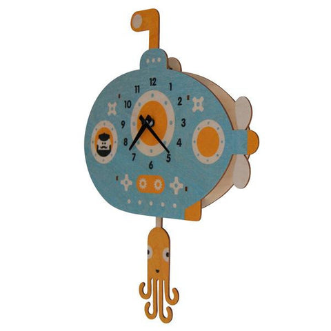 Modern Moose Submarine Clock