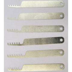 6 Piece Tapered Comb Padlock Lock Picks - UKBumpKeys