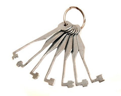 2 Lever Try-Out Keys - 7 Piece Lever Lock Skeleton Keys - UKBumpKeys