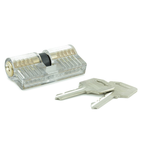 Clear Double-Sided Training Lock - Single Pin Picking Practice - UKBumpKeys