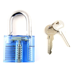 Clear Lock Picking Padlock + Visible Mechanism : Medium Difficulty - UKBumpKeys