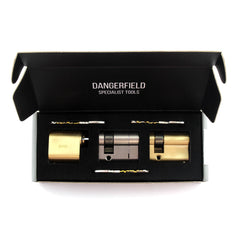 Dangerfield Fine Metal Practice Locks in our display box