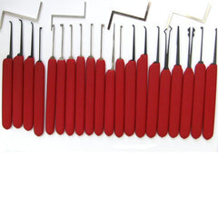 HUK Red Tiger Lock Pick Set - UKBumpKeys