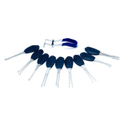 KLOM Wafer Lock Rakes - Lock Picks for Double Sided Locks - UKBumpKeys