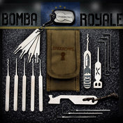 Sparrows Bomba Royale Slim Line Pick Set + Case - UKBumpKeys