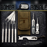 Sparrows Bomba Royale Slim Line Pick Set + Estuche - UKBumpKeys