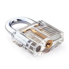 Clear Practice Padlock with Visible Mechanism - Lock Picking Training : Starter Difficulty - UKBumpKeys