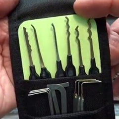 Pro Night Vision Creeper Lock Picking Rake Set Detail