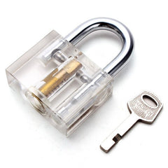 Clear Disc Detainer Lock Picking Practice Padlock - UKBumpKeys