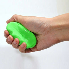 Therapeutic putty green in hand