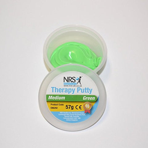 therapeutic putty green with tub