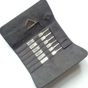 8 Piece Hook Pick Pro Selection in  Magnetic Leather Wallet