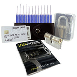 Lock Pick Set voor beginners: Lock Picks, Covert Tools Card + 2 Training Locks en How-to-Lockpick eBook - UKBumpKeys