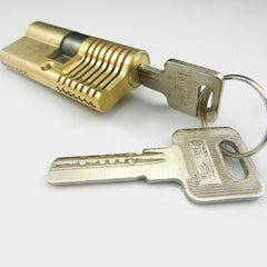 Cut-Away 7 Pin Dimple Practice Lock - UKBumpKeys