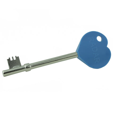 Blue Heart Disabled Toilet Key
