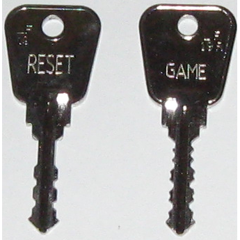 2 Piece Fruit Machine & Pool Table Reset Key - UKBumpKeys
