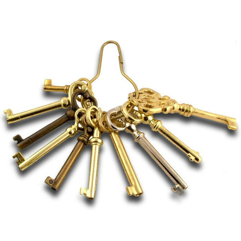 10 Piece Bit + Barrel Skeleton Key Selection - UKBumpKeys