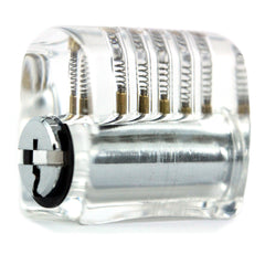 Side slanted view of crystal practice lock