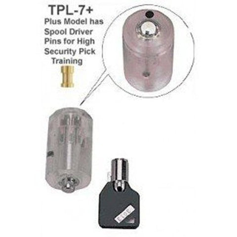 Clear Practice Tubular Lock - Spool Pin Version - UKBumpKeys