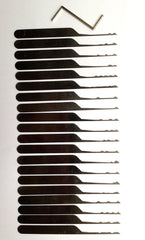 Wave Rakes XS - 20 Piece Lock Picking Rake Set - UKBumpKeys
