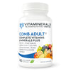 Vitaminerals Comb Adult MultiVitamin + Greens Blend, 90 Veggie caps