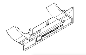 Wall-mounting bracket for Technic Porsche 911 RSR (Set 42096)