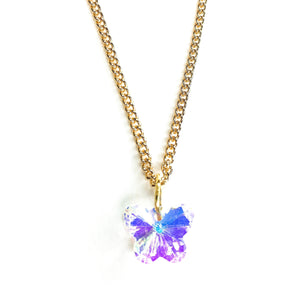Load image into Gallery viewer, This Butterfly Necklace glows in every angle of light