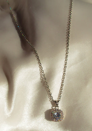 Load image into Gallery viewer, SILVER ICY CRYSTAL NECKLACE