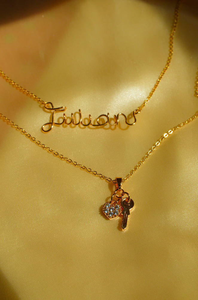 Load image into Gallery viewer, KEY TO MY HEART NECKLACE-GOLD FILLED