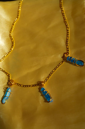 Load image into Gallery viewer, HEALING CRYSTAL WAIST CHAIN- BLUE QUARTZ