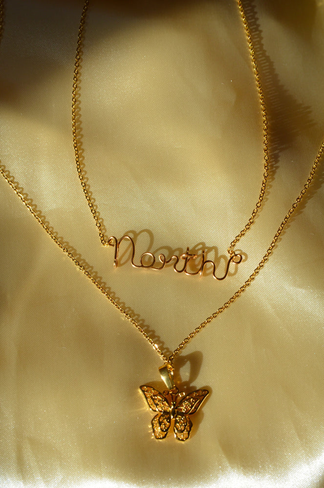 Load image into Gallery viewer, CUSTOM NAME & BUTTERFLY DREAM NECKLACE