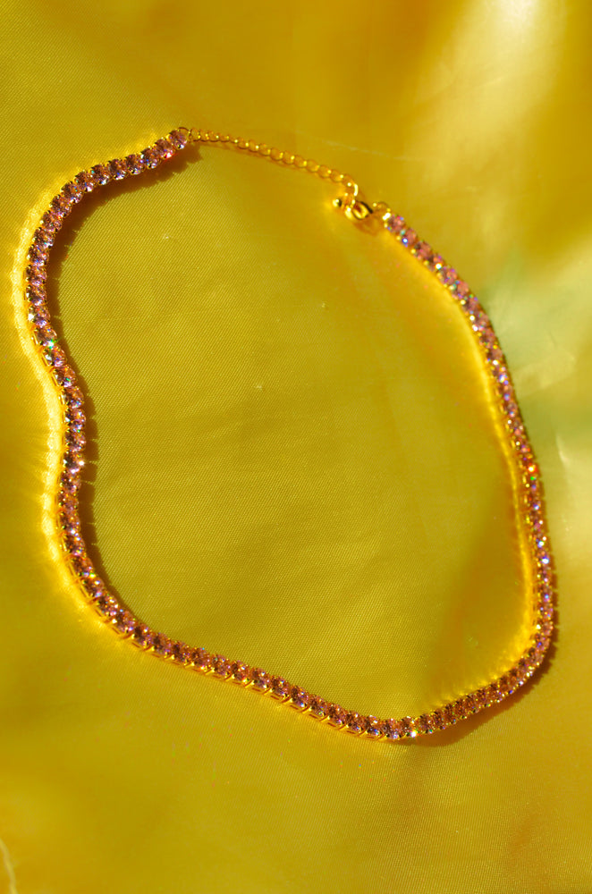 PINK DIAMOND TENNIS CHAIN