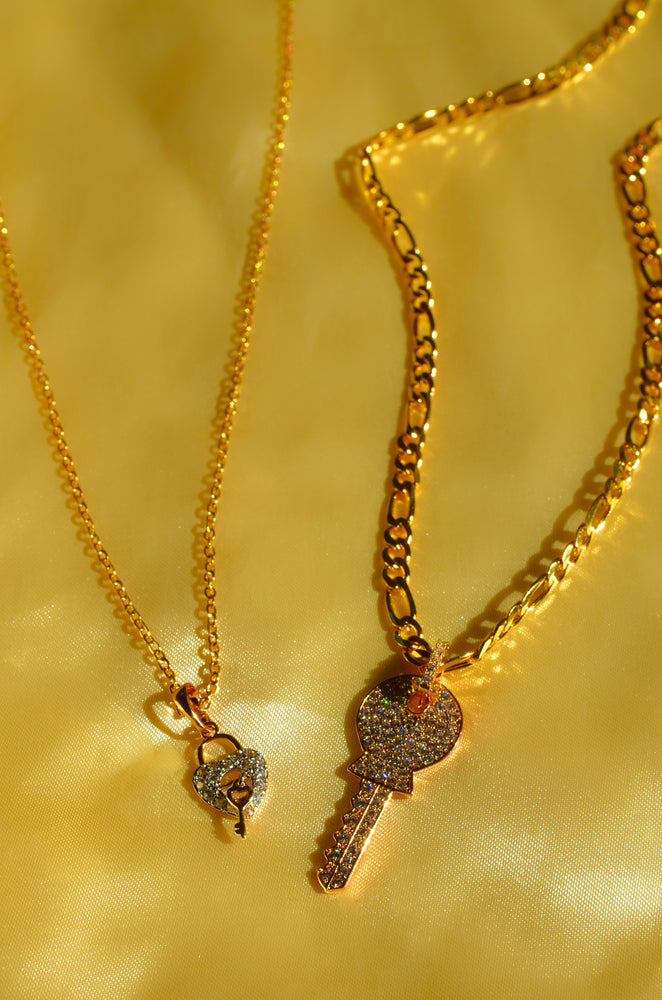 HEART & KEY - 2 PIECE SET - GOLD FILLED