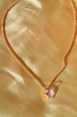 Load image into Gallery viewer, GLASS BUTTERFLY NECKLACE