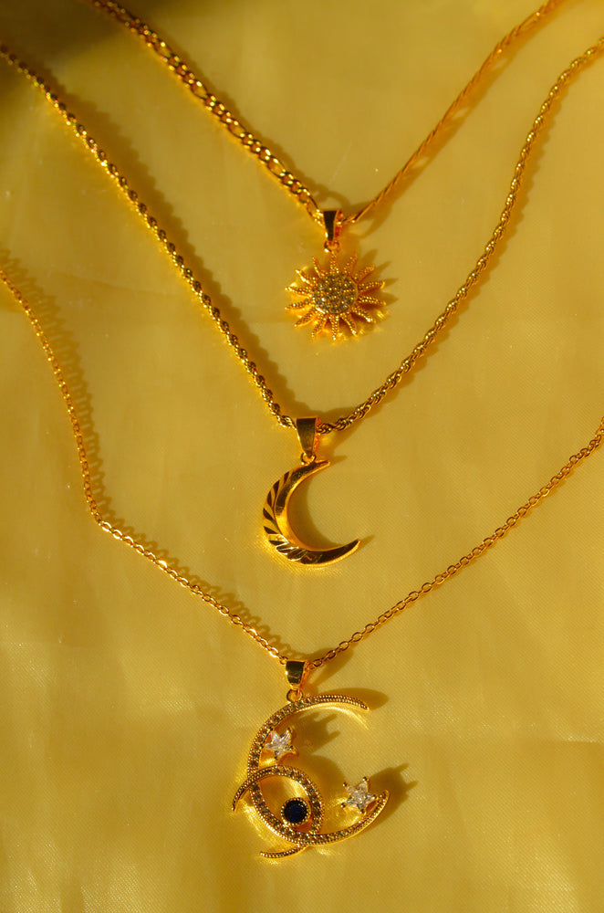 ASTROLOGY LAYERED SET- GOLD FILLED