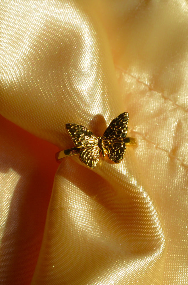 BUTTERFLY RING- GOLD FILLED
