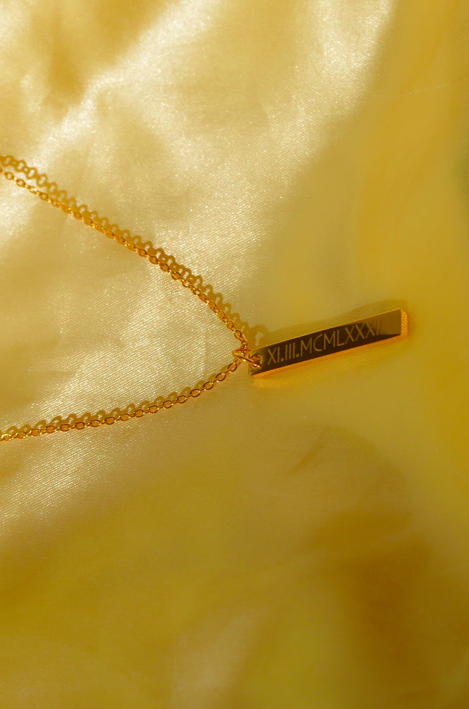 Load image into Gallery viewer, CUSTOM DATE NECKLACE- ENGRAVED