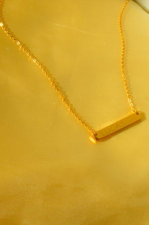 Load image into Gallery viewer, CUSTOM ENGRAVED BAR NECKLACE (HEART)