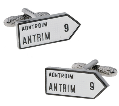 Pre Order: Old Irish 32 County Road Sign Cufflinks