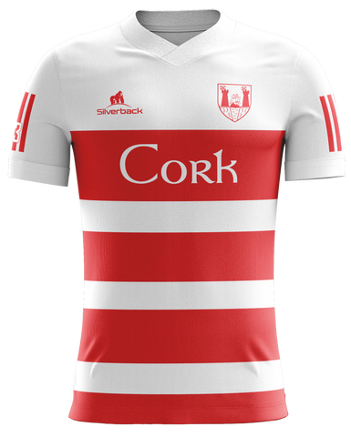 Cork White and Red Football Jersey