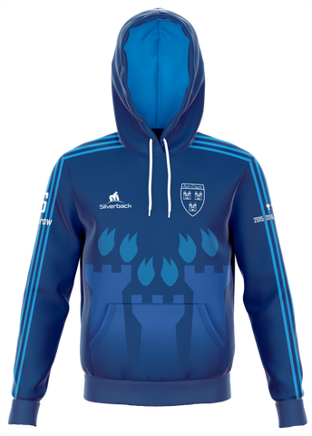 Dublin 6 in a Row Dark Blue Football Zip Less Hoodie