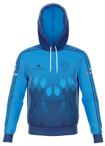 Dublin 6 in a Row Light Blue Football Zip Less Hoodie
