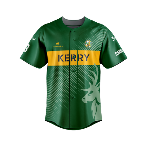 Kerry - O'Keeffe Football Silverback Clothing Range - Baseball Top (Danno O'Keeffe)