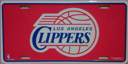 Los Angeles Clippers Metal Novelty License Plate Tag