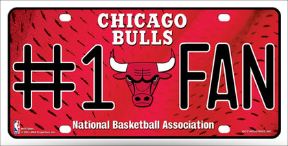 Chicago Bulls Fan Metal Novelty License Plate Tag