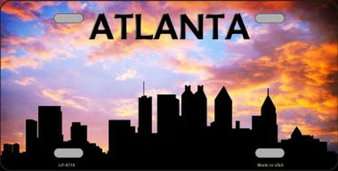 Atlanta Silhouette Novelty Metal License Plate Tag