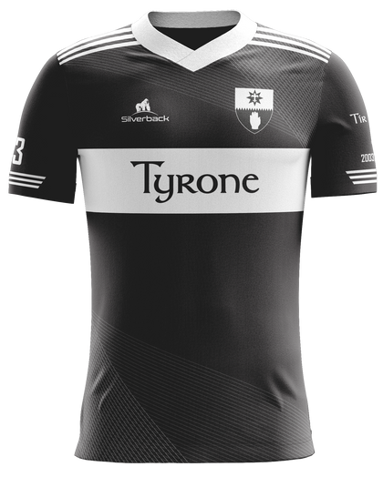 Tyrone-Eastwood Black and Grey Football Jersey