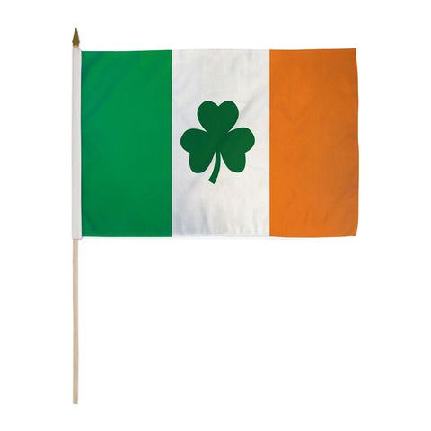 Ireland (Clover) 12x18in Stick Flag