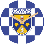 Cavan Flag Large Rounded Wooden Clock-290mm diameter, 22mm thick