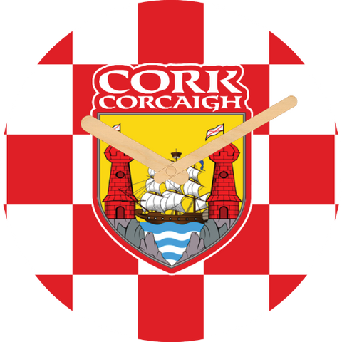 Cork Flag Large Rounded Wooden Clock-290mm diameter, 22mm thick